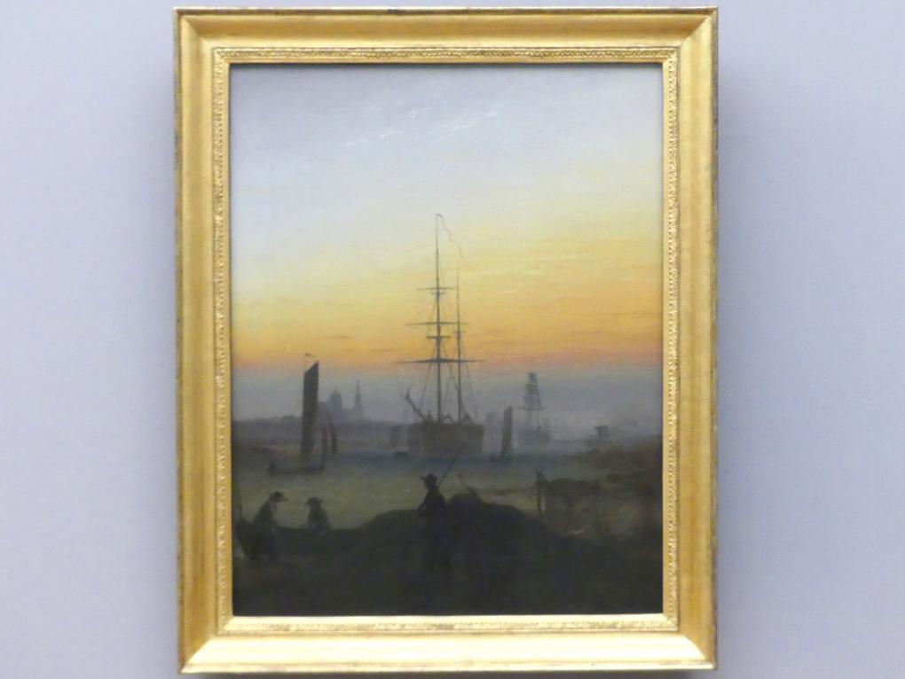 Caspar David Friedrich: Der Greifswalder Hafen, um 1818 - 1820