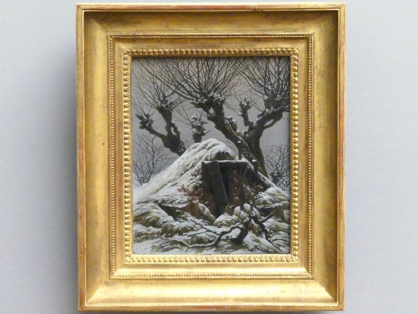 Caspar David Friedrich: Verschneite Hütte, 1827