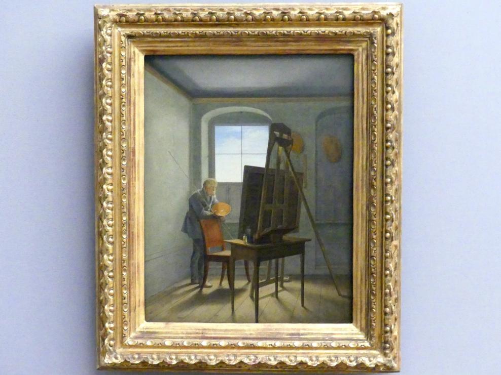 Georg Friedrich Kersting: Caspar David Friedrich in seinem Atelier, 1812