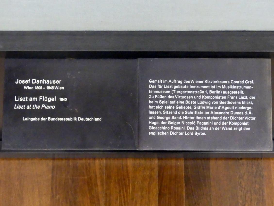 Josef Danhauser: Liszt am Flügel, 1840, Bild 2/2