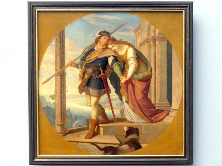 Julius Schnorr von Carolsfeld: Siegfrieds Abschied von Kriemhild, um 1843