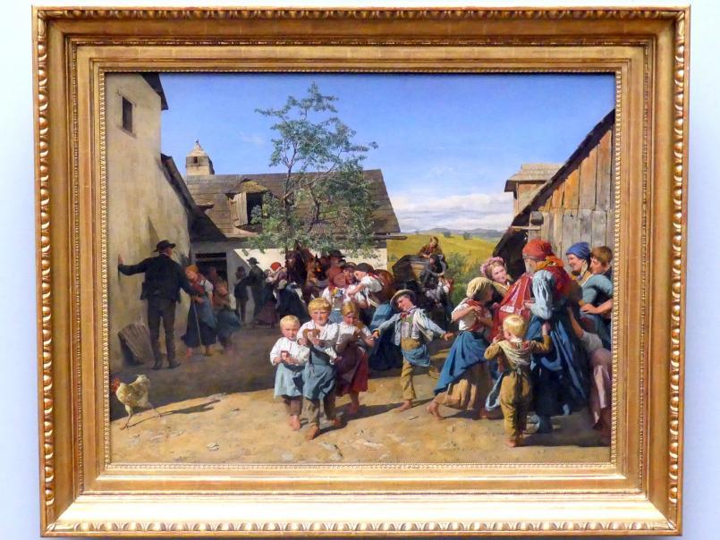 Ferdinand Georg Waldmüller: Rückkehr von der Kirchweih, um 1859 - 1860