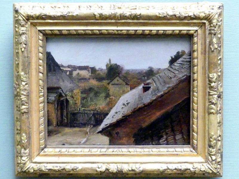 Carl Blechen: Blick auf Dächer und Gärten, um 1835
