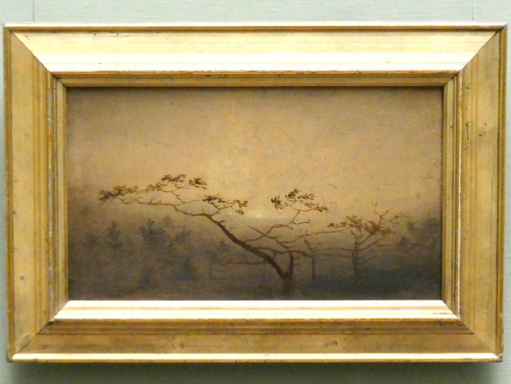 Carl Blechen: Bäume im Herbst bei Sonnenaufgang, um 1823