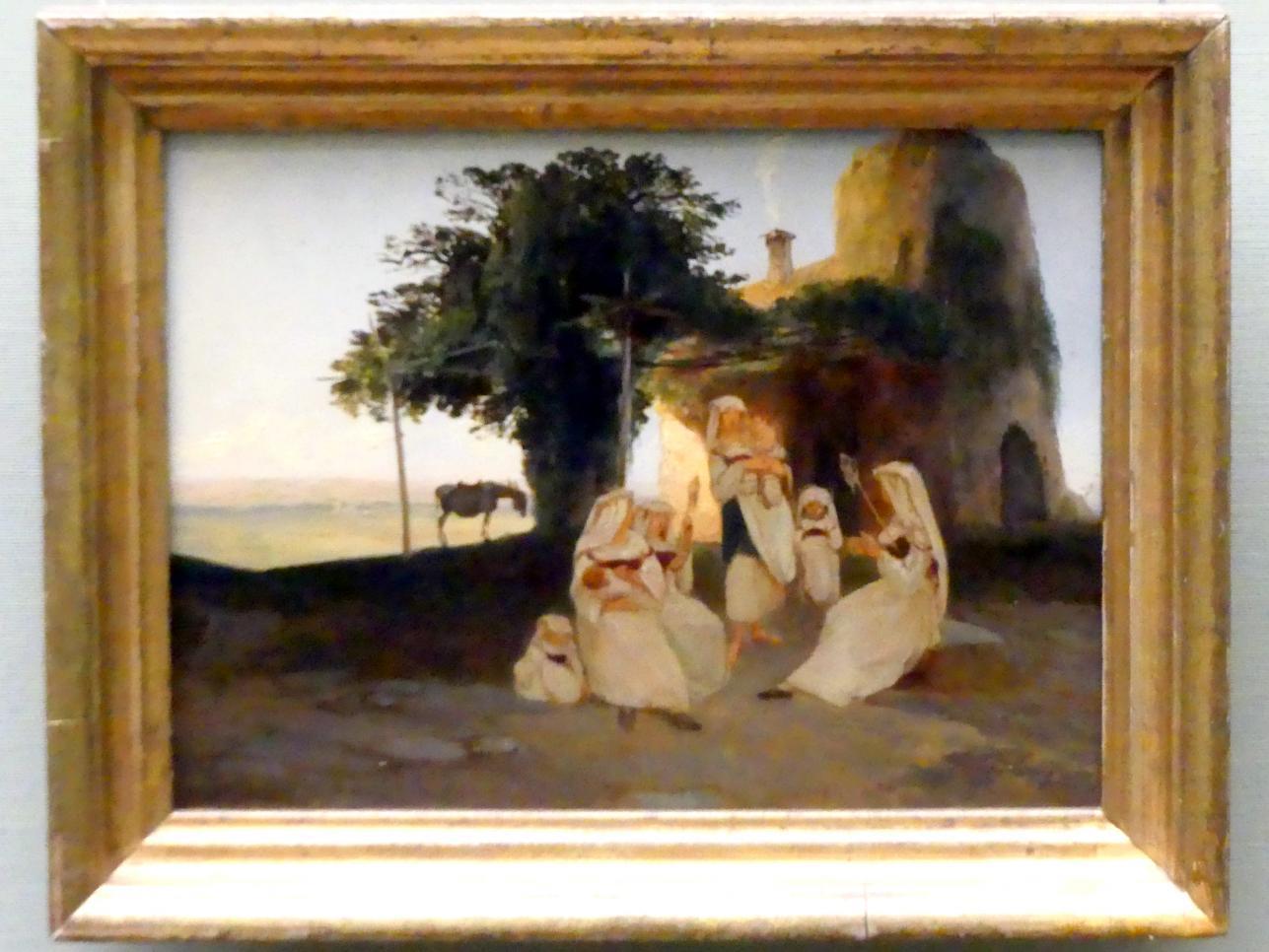 Carl Blechen: Spinnerinnen in Cervara, um 1835