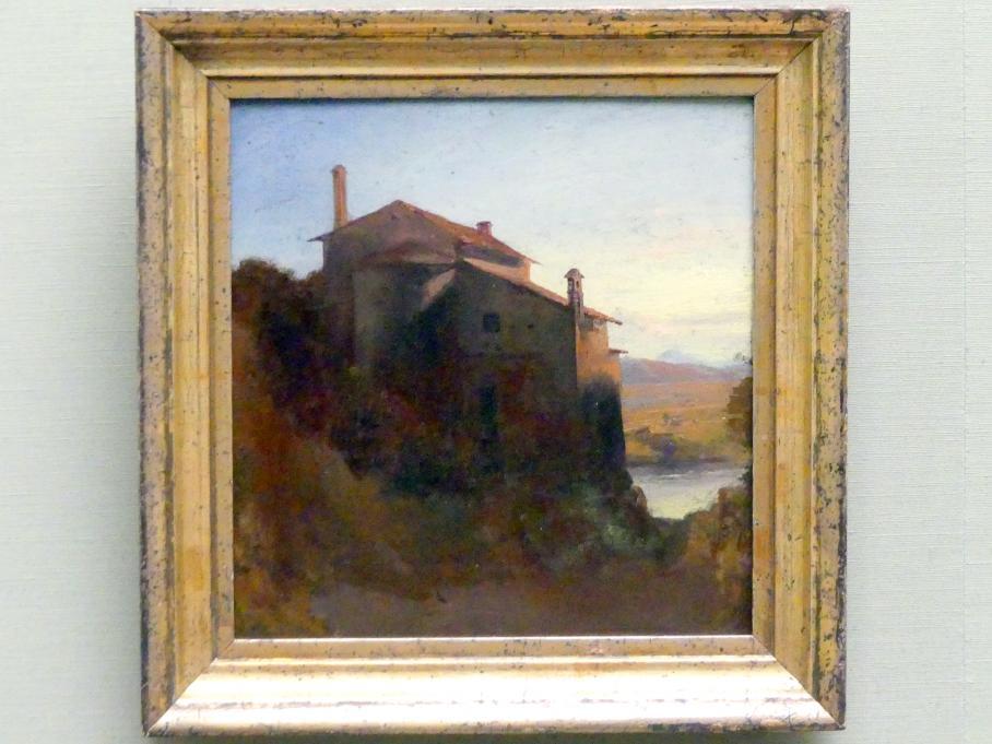 Carl Blechen: Italienisches Klostergebäude am Wasser, um 1835