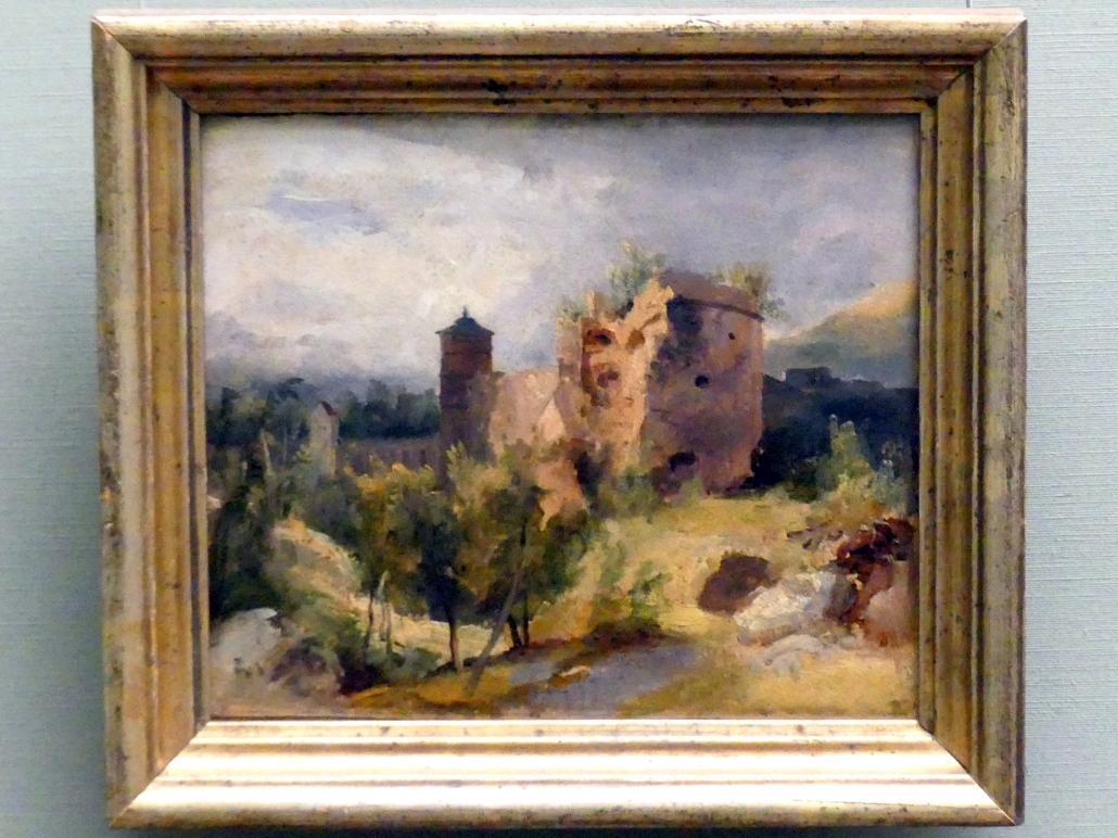 Carl Blechen: Der zersprengte Turm des Heidelberger Schlosses, um 1830