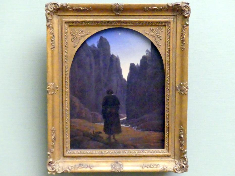 Carl Gustav Carus: Pilger im Felsental, nach 1828