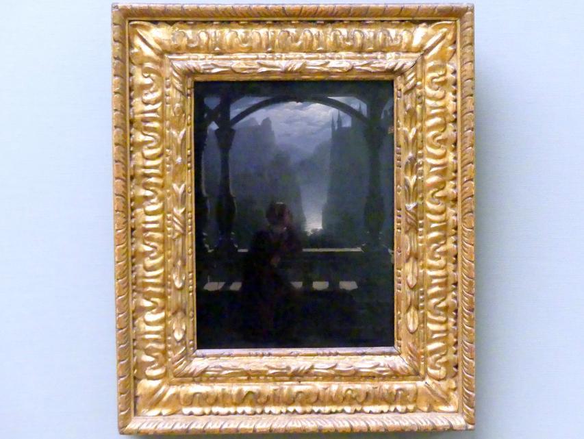 Carl Friedrich Hampe: Ritterburg im Mondschein, 1817