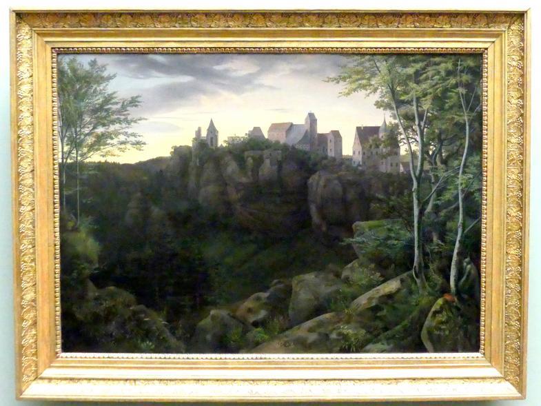 Ernst Ferdinand Oehme: Burg Hohnstein in der Sächsischen Schweiz, 1827