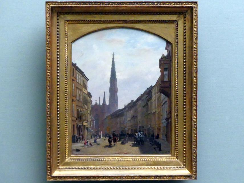 Eduard Gaertner: Die Brüderstraße in Berlin, 1863