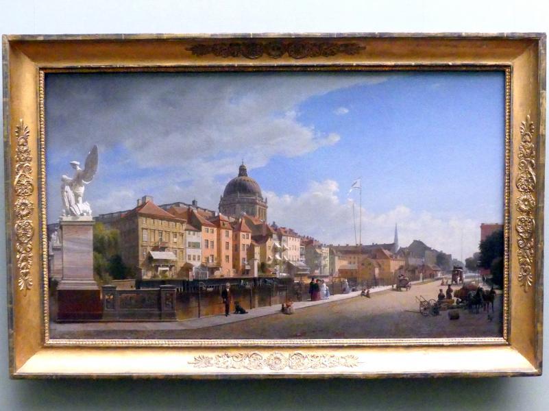 Eduard Gaertner: Ansicht der Rückfront der Häuser an der Berliner Schloßfreiheit, 1855