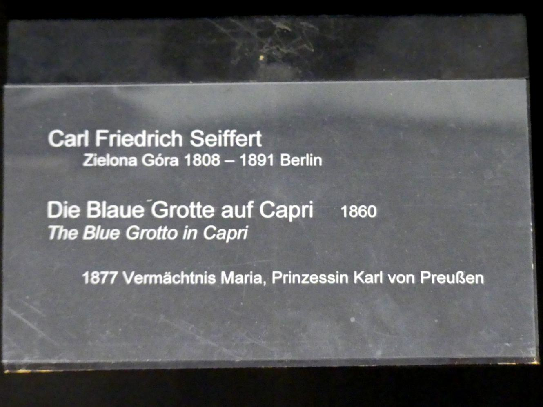 Carl Friedrich Seiffert: Die Blaue Grotte auf Capri, 1860, Bild 2/2