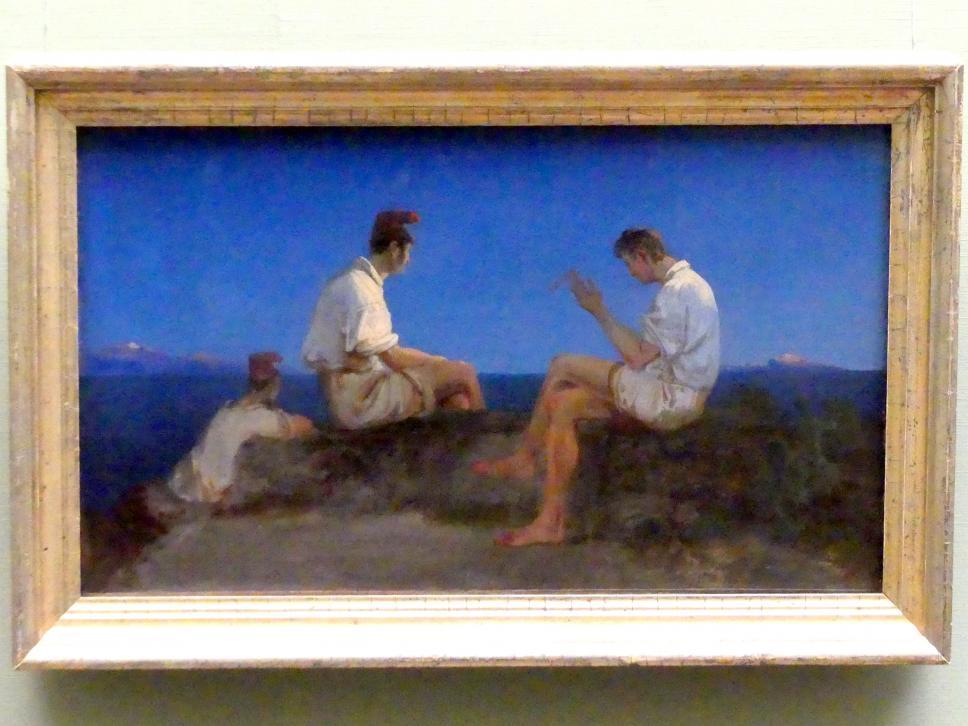 Carl Blechen: Drei Fischer am Golf von Neapel, um 1830 - 1835