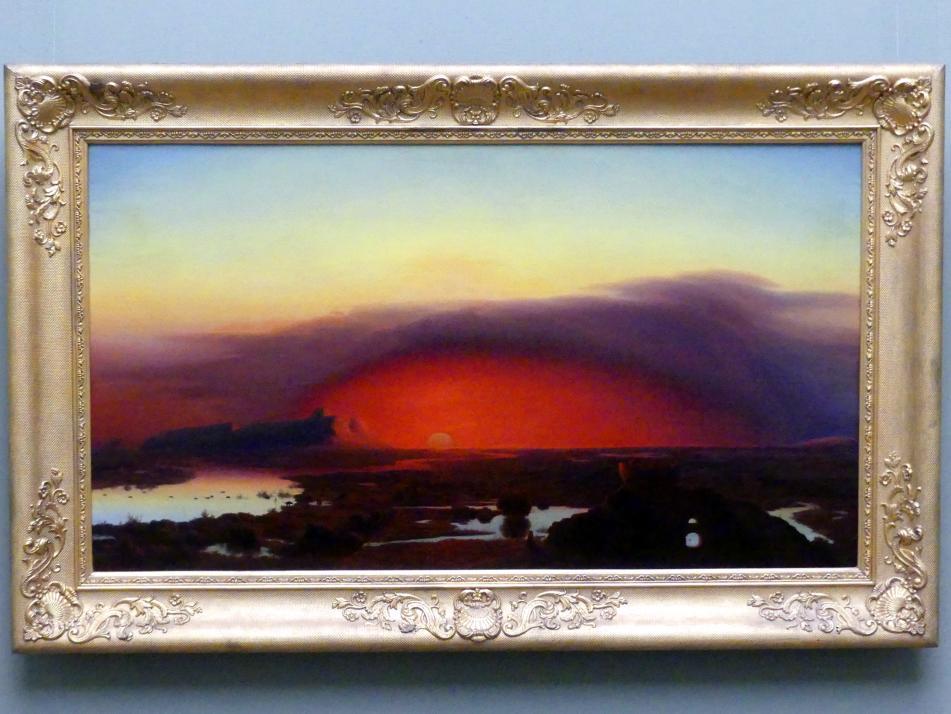 August Kopisch: Die Pontinischen Sümpfe bei Sonnenuntergang, 1848