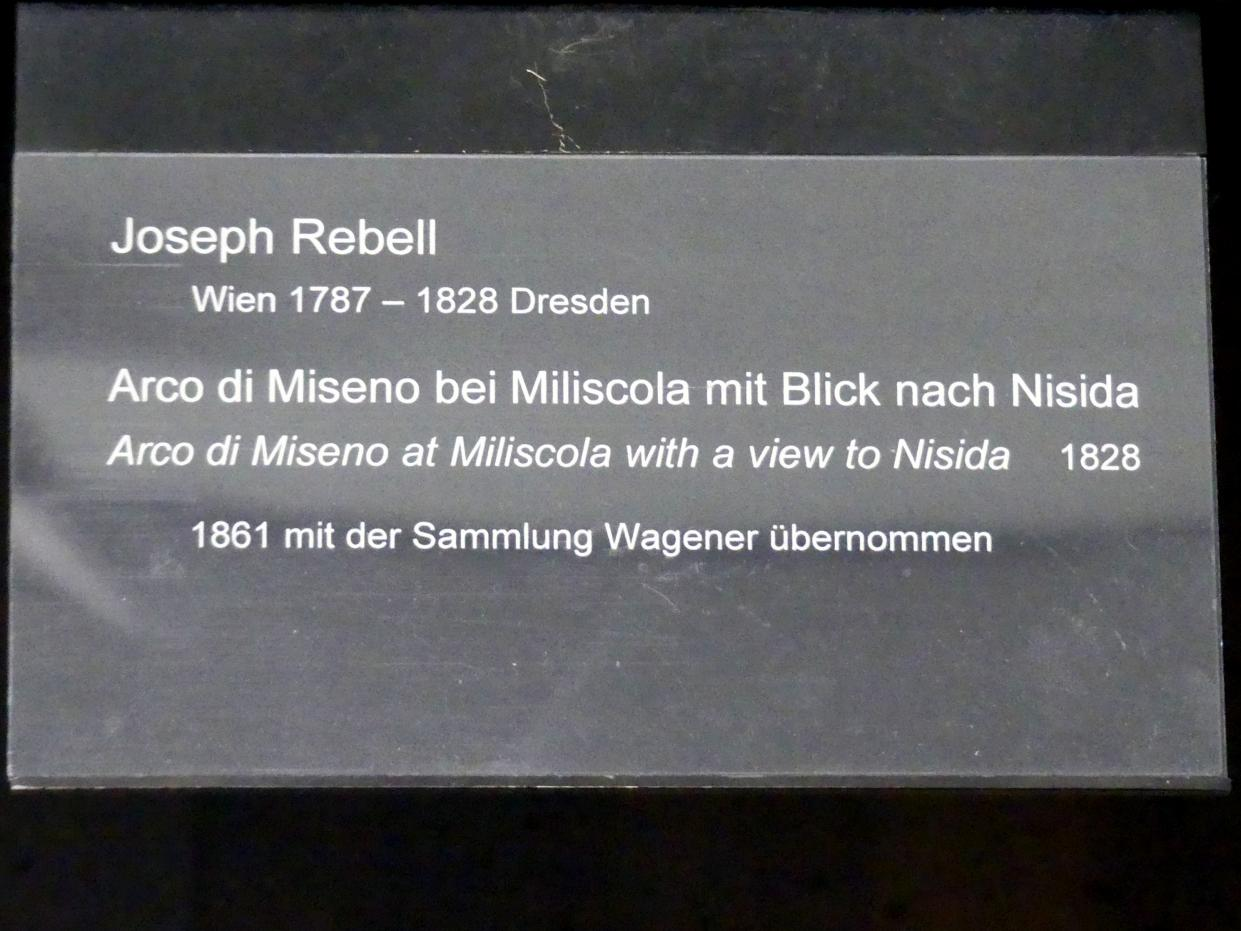 Josef Rebell: Arco di Miseno bei Miliscola mit Blick nach Nisida, 1828, Bild 2/2