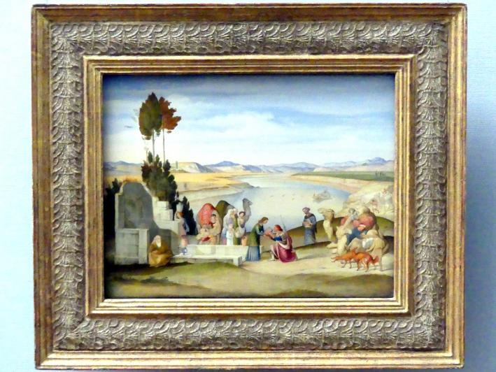 Johann Anton Alban Ramboux: Rebekka und Elieser am Brunnen, 1819
