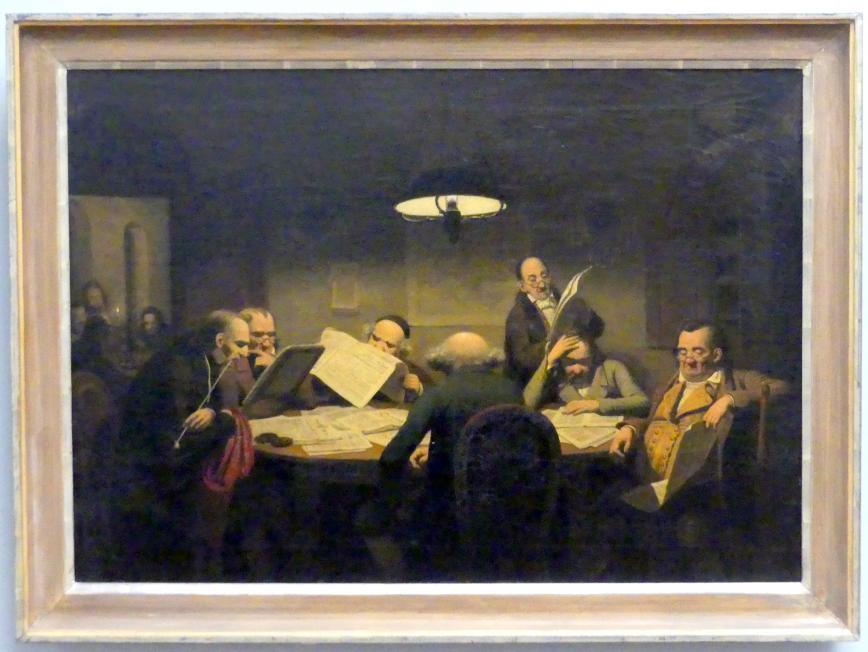 Johann Peter Hasenclever: Das Lesekabinett, 1843
