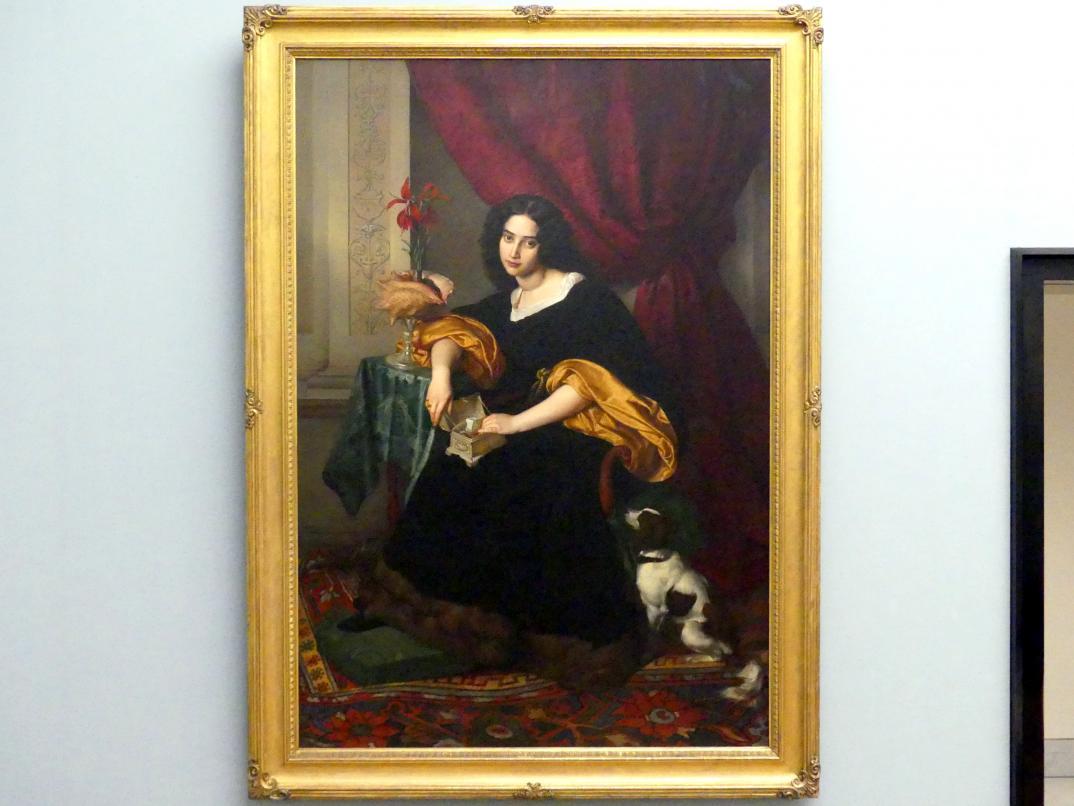 Julius Hübner: Pauline Charlotte Bendemann, die Braut des Künstlers, 1829