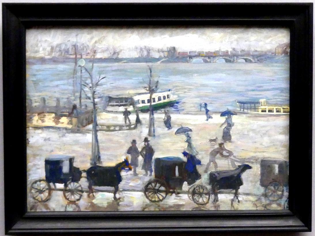 Sella Hasse: Droschkenhaltestelle am Jungfernstieg, um 1905