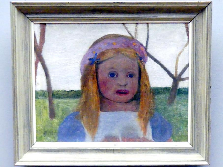 Paula Modersohn-Becker: Mädchen mit Blütenkranz im Haar, um 1901