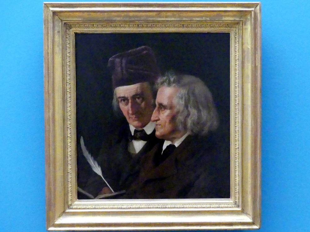 Elisabeth Jerichau-Baumann: Doppelporträt der Brüder Jacob und Wilhelm Grimm, 1855
