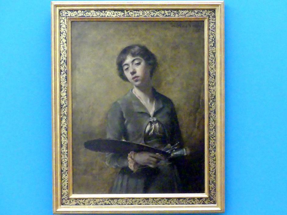 Sabine Lepsius: Selbstbildnis, 1885