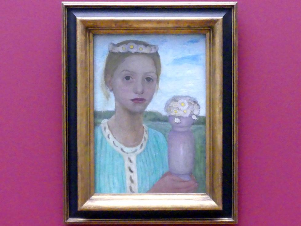 Paula Modersohn-Becker: Mädchen mit Blumenkranz, um 1901