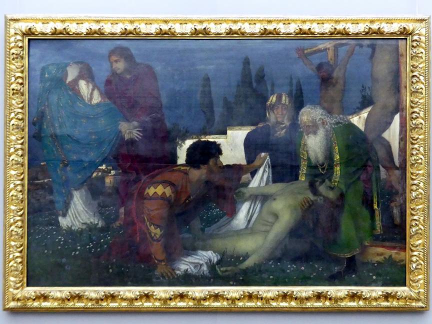 Arnold Böcklin: Beweinung unter dem Kreuz, 1876