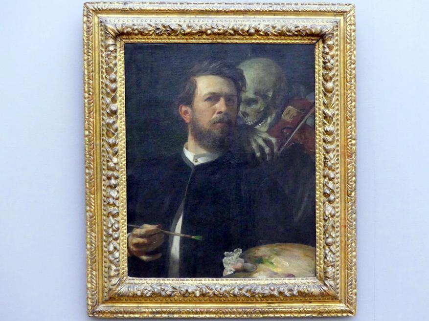 Arnold Böcklin: Selbstbildnis mit fiedelndem Tod, 1872
