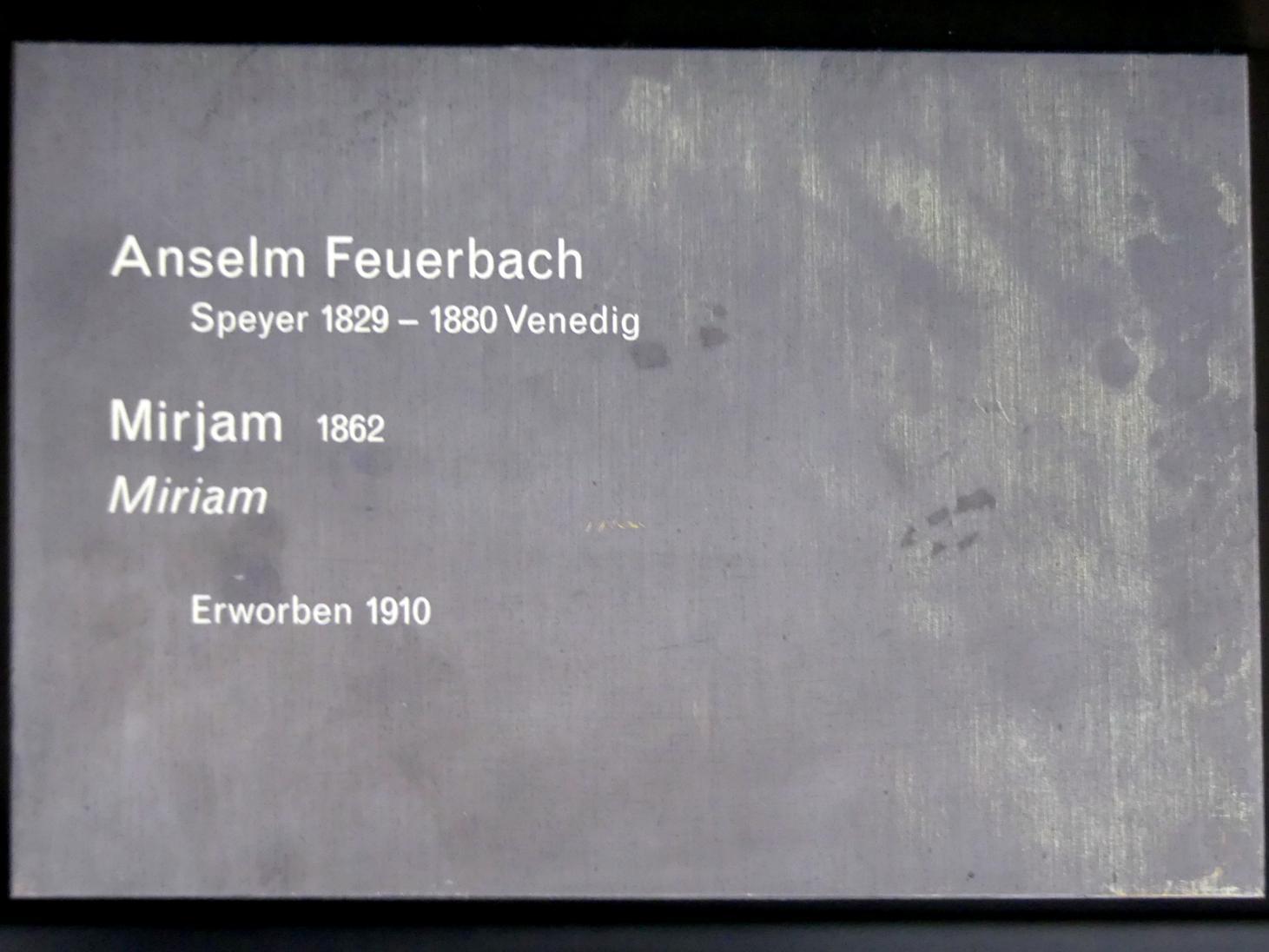 Anselm Feuerbach: Mirjam, 1862, Bild 2/2