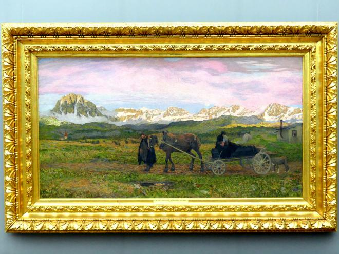 Giovanni Segantini: Rückkehr zur Heimat, 1895