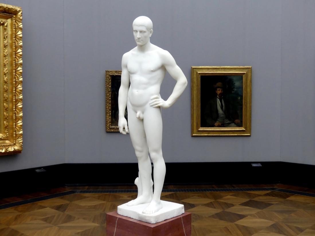 Adolf von Hildebrand: Stehender junger Mann, 1881 - 1884