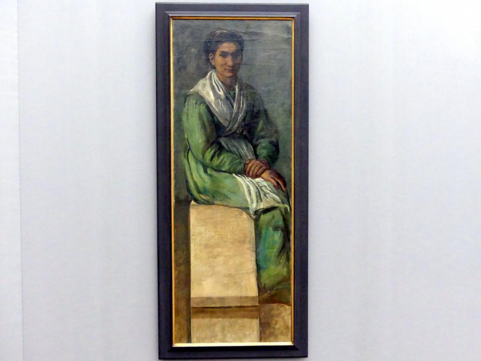 Hans von Marées: Frau auf der Treppe. Studie zu einem Fresko im Deutschen Zoologischen Institut zu Neapel, 1873