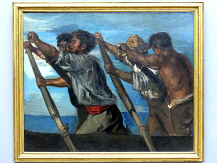 Hans von Marées: Die Ruderer. Studie zu einem Fresko im Deutschen Zoologischen Institut zu Neapel, 1873
