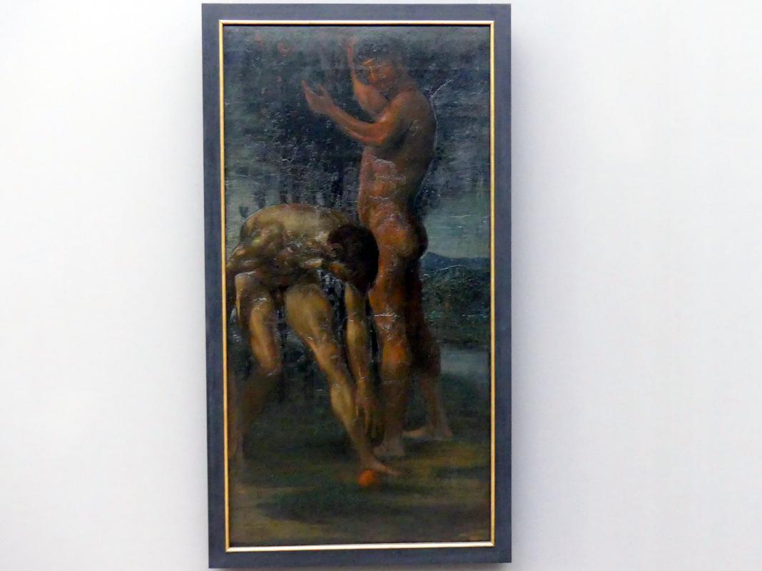 Hans von Marées: Zwei männliche Akte, um 1879 - 1880