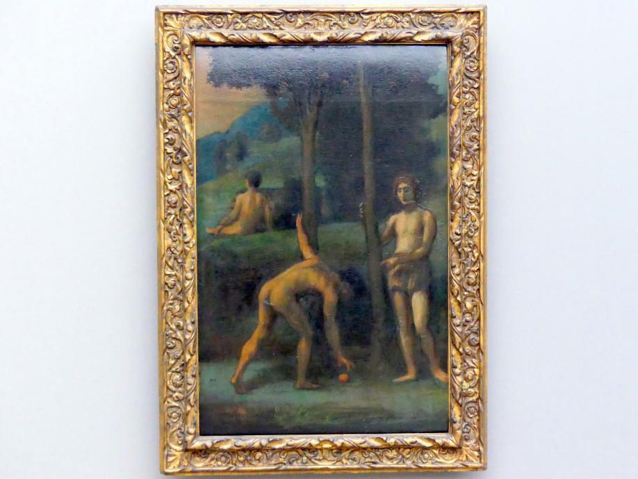 Hans von Marées: Drei Jünglinge in einem Orangenhain, 1878 - 1883