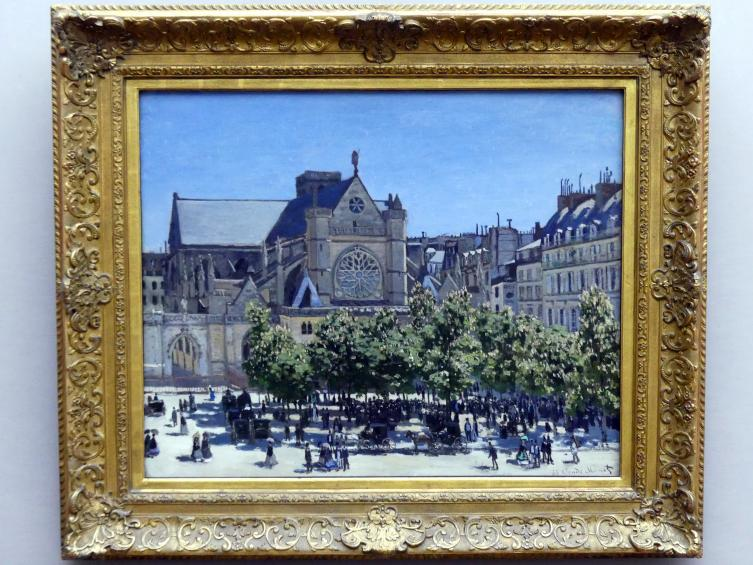Claude Monet: Saint-Germain-l'Auxerois in Paris, 1867
