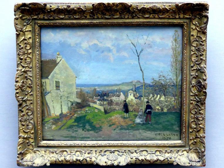 Camille Pissarro: Louveciennes mit dem Mont Valérien im Hintergrund, 1870