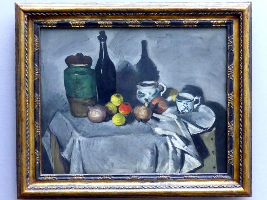 Paul Cézanne: Stillleben (Früchte und Geschirr), um 1869 - 1870