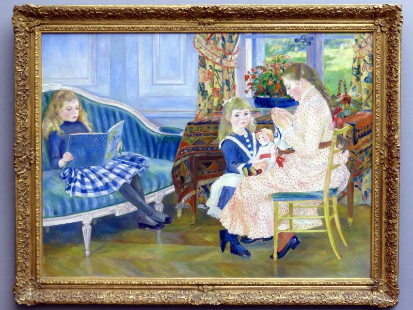 Auguste Renoir (Pierre-Auguste Renoir): Der Nachmittag der Kinder in Wargemont, 1884