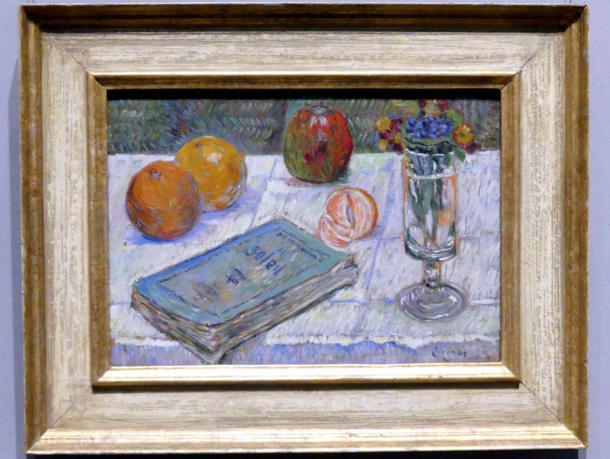 Paul Signac: Stillleben mit Buch, 1883
