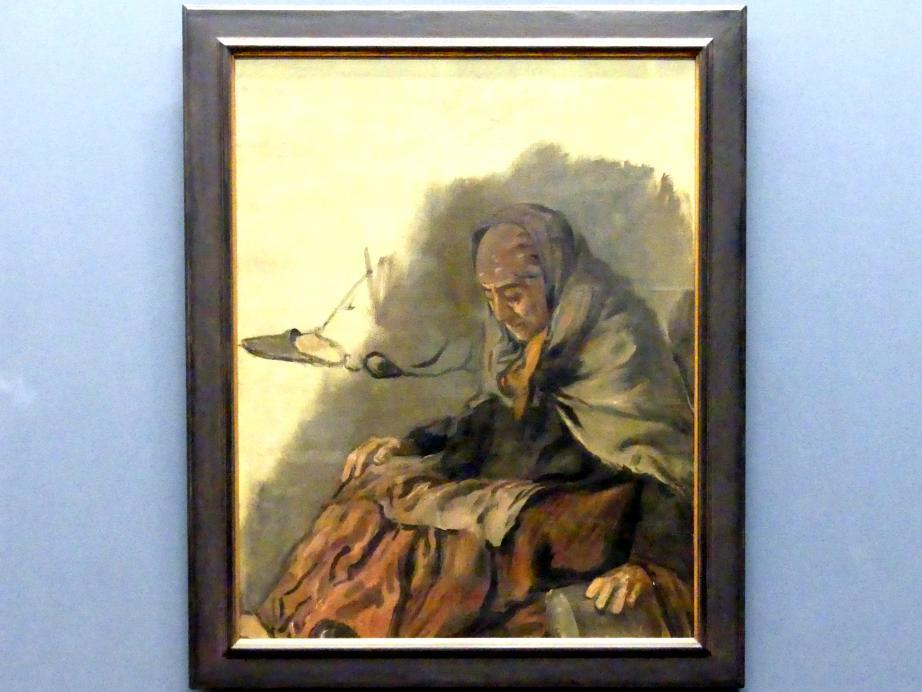 Hans von Marées: Alte Austernverkäuferin. Studie zu einem Fresko im Deutschen Zoologischen Institut zu Neapel, 1873