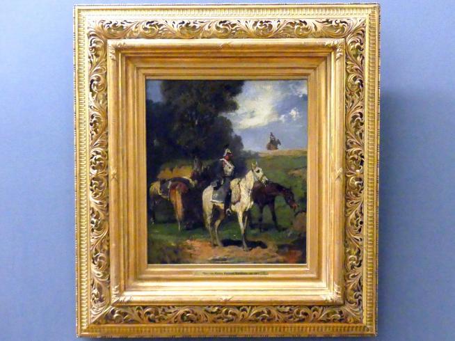 Hans von Marées: Rastende Kürassiere, 1861 - 1862