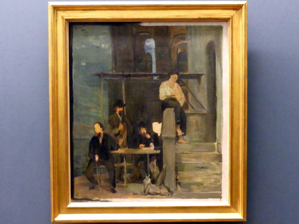 """Hans von Marées: Studie zu einem Fresko """"Pergola"""" in der Zoologischen Station Neapel, 1873"""