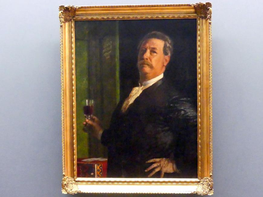 Arnold Böcklin: Selbstbildnis mit dem Weinglas, 1885
