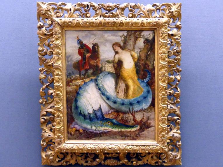 Arnold Böcklin: Ruggiero und Angelica, 1873
