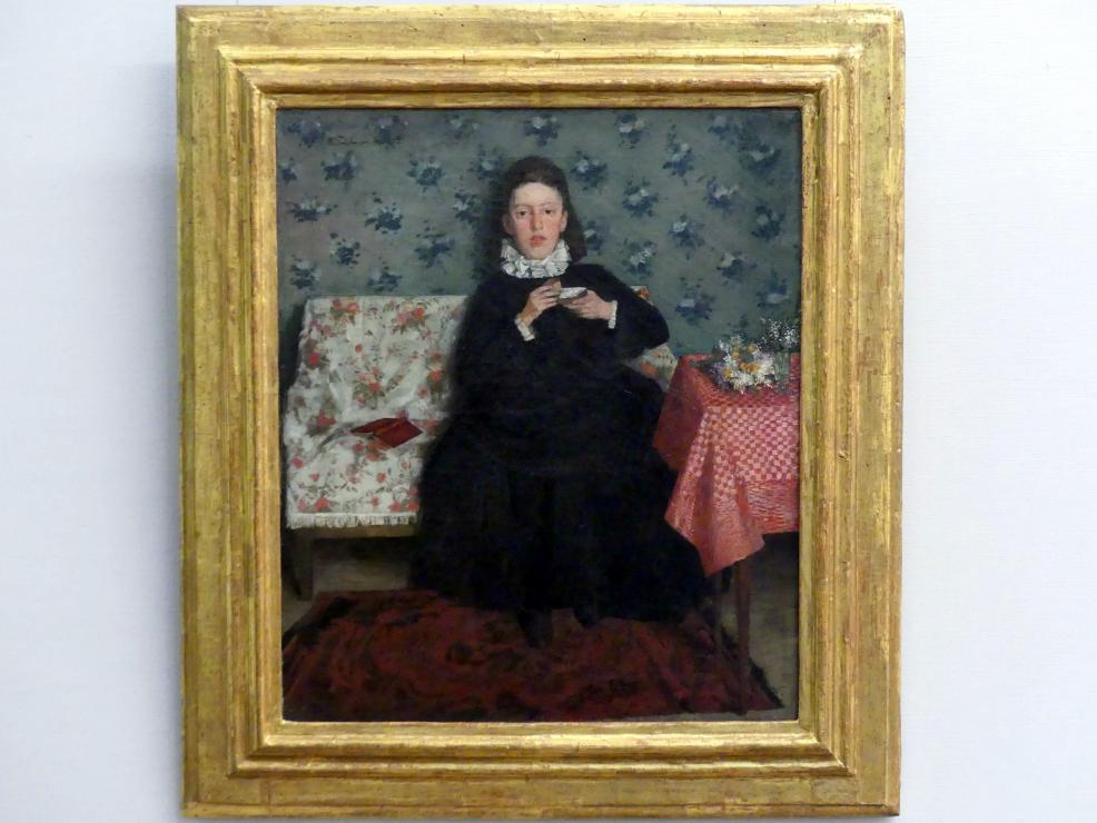 Wilhelm Trübner: Auf dem Kanapee, 1872