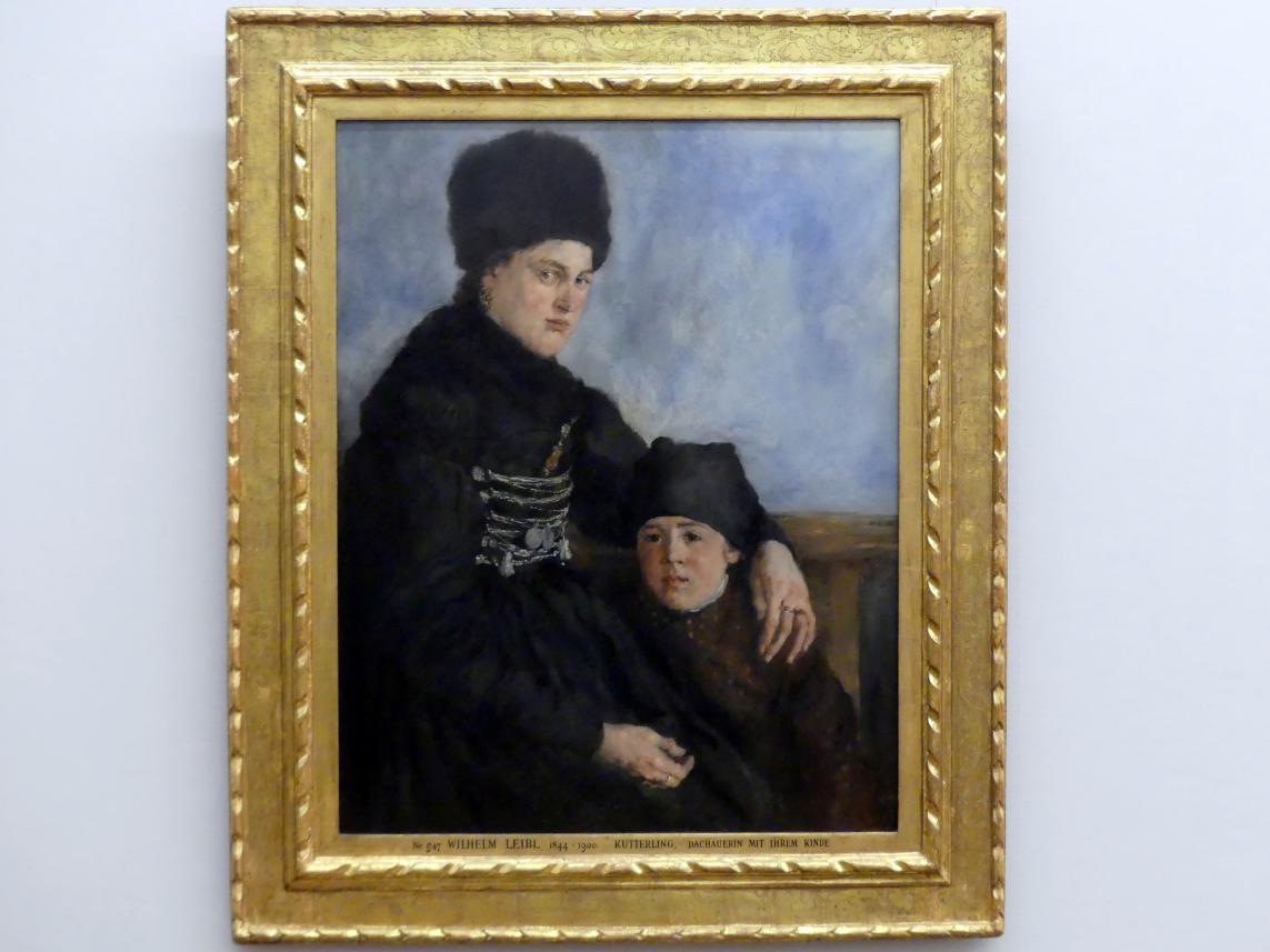 Wilhelm Leibl: Dachauerin mit Kind, 1873 - 1874