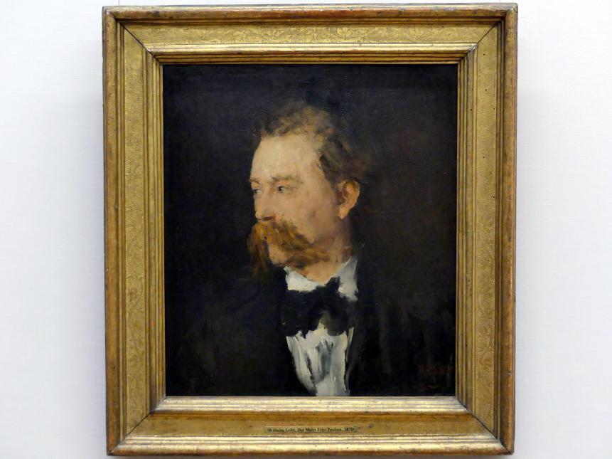 Wilhelm Leibl: Der Maler Fritz Paulsen, 1870